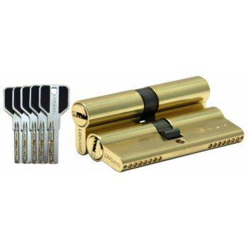 Цилиндровый механизм LIVGARD C90 перфо.ключ-ключ PB Полированная латунь