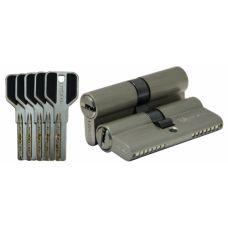 Цилиндровый механизм LIVGARD C70 перфо.ключ-ключ SN Матовый никель