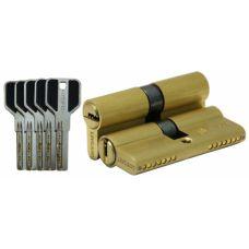 Цилиндровый механизм LIVGARD C70 перфо.ключ-ключ SB Матовая латунь